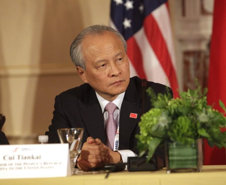 Cui Tiankai, China''s ambassador to the US. Photo: AFP/Chris Kleponis