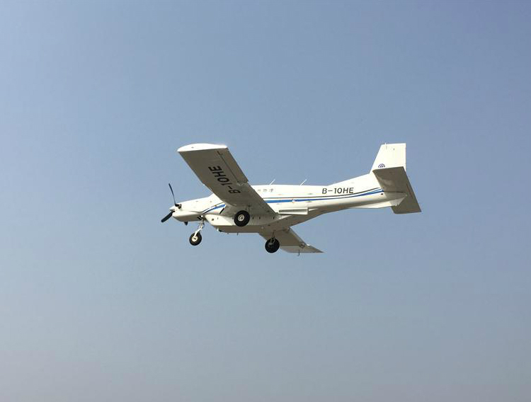 The unmanned AT200 cargo plane or drone had its maiden flight last month. Photo: Xinhua
