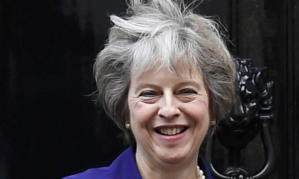 英国首相文翠珊  相片:路透社