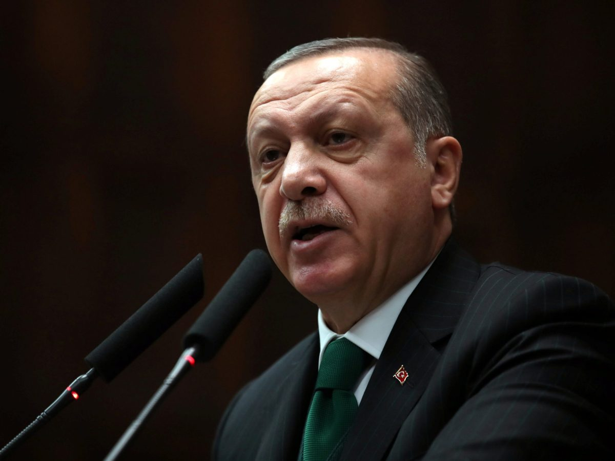 Turkish President Tayyip Erdogan addresses members of parliament of his ruling AK Party (AKP) during a meeting at the Parliament in Ankara. Photo: Reuters/Umit Bektas