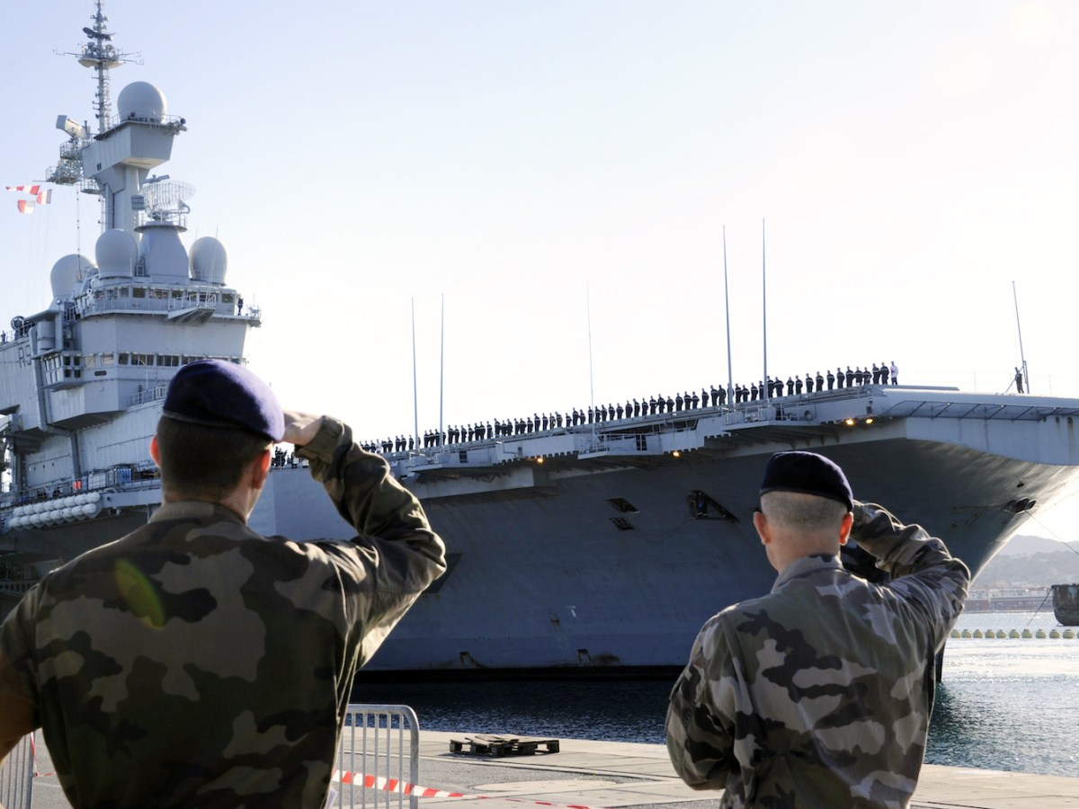France's Charles De Gaulle carrier in the Indian Ocean.   Photo: AFP/Anne-Christine Poujoulat