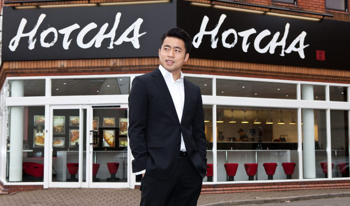 James Liang in better times, at the launch of a new branch of Hotcha. Image: JBP PR
