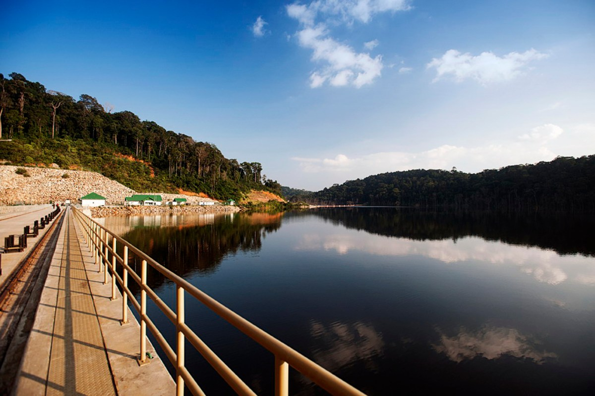 A handout picture taken on October 23, 2010 shows a part of the reservoir of the Nam Theun 2 hydropower station in the Lao central province of Khammouane.   Photo: AFP/Nam Theun Power Company