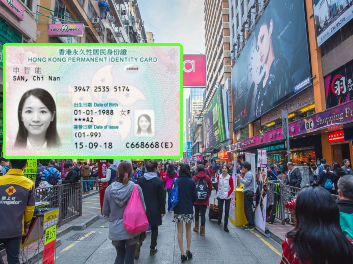 Mong Kok in Kowloon, with the new smart ID card inset. Photo: iStockphoto, Legislative Council