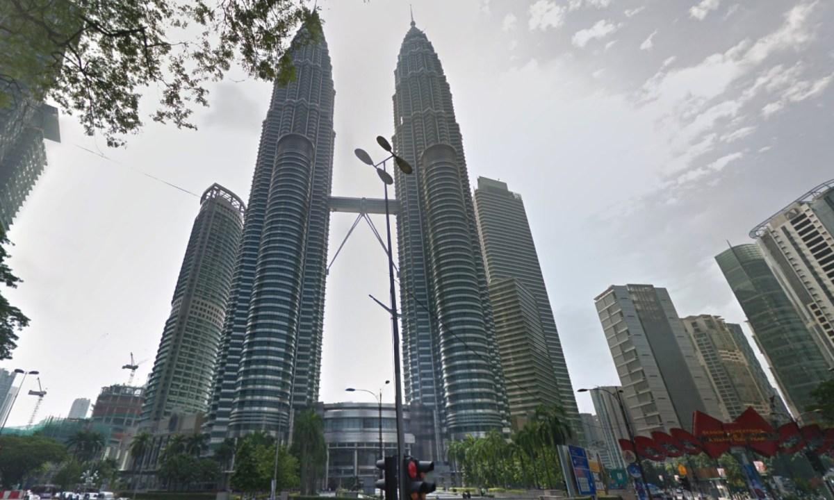 Petronas Twin Towers, Kuala Lumpur, Malaysia. Photo: Google Maps