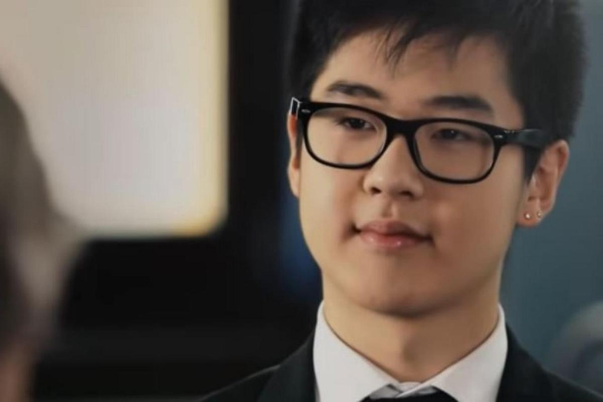 Kim Han-sol gave an interview with Finnish television in 2012. Photo via Youtube