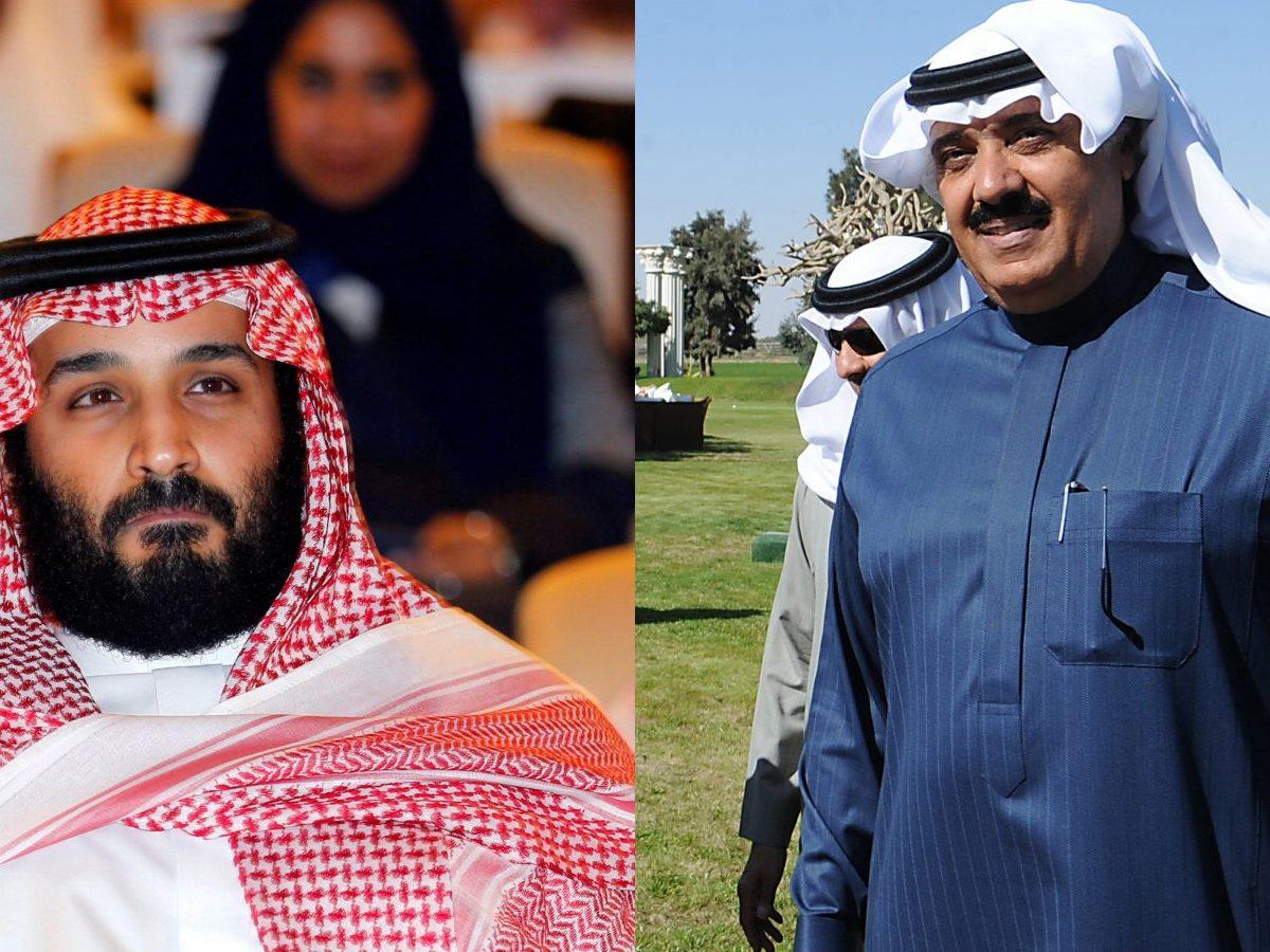 Mohammad bin Salman (left); Mutaib bin Abdullah. Photos: Reuters