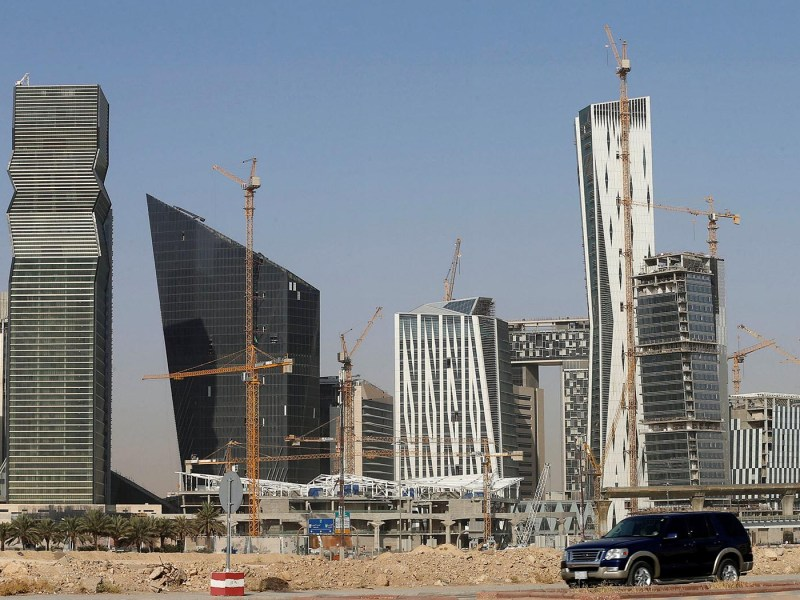 A missile was intercepted on the outskirts of the Saudi capital Riyadh. The city's King Abdullah Financial District is pictured above.  Photo: Reuters / Faisal Al Nasser