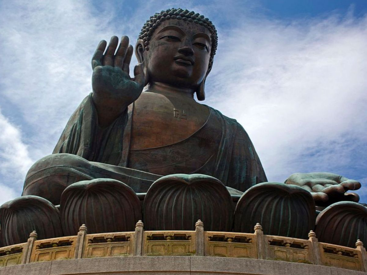 The Big Buddha at Po Lin Monastery, Lantau Island. Photo: Wikipedia