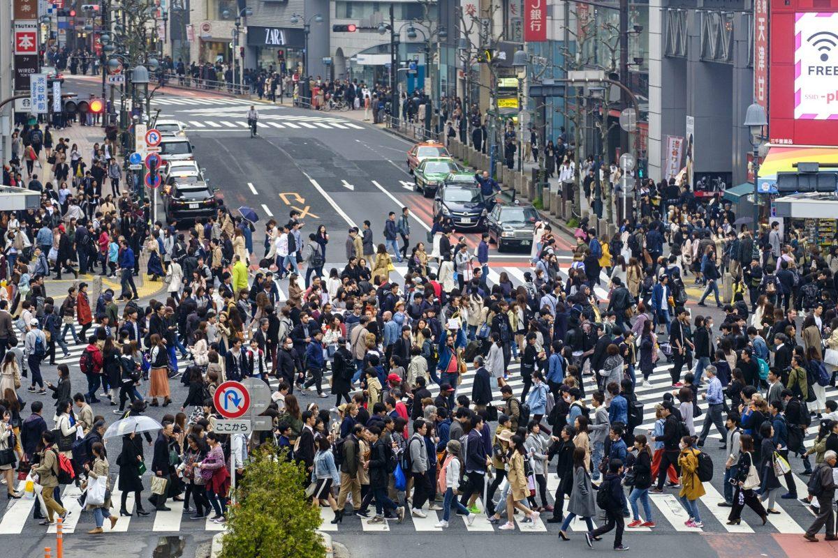 Shibuya crossing, Shibuya area, Tokyo, Japan, Asia. Photo: AFP