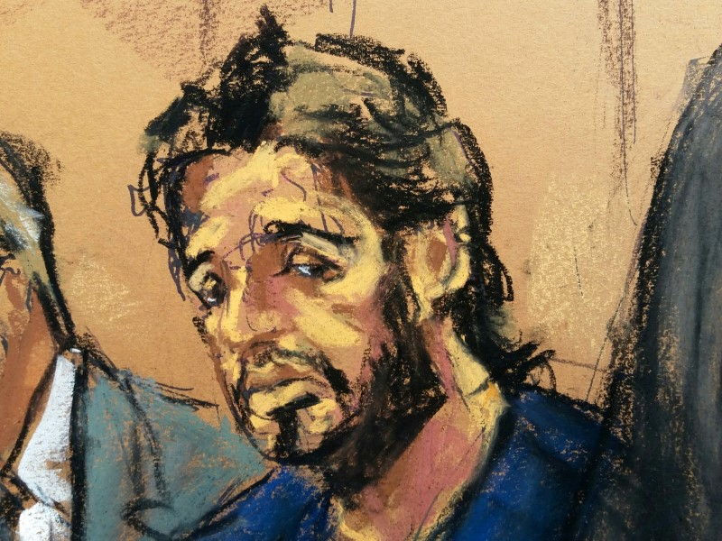 Turkish gold trader Reza Zarrab is shown in a court room sketch as he appears in Manhattan federal court in New York. Photo: Reuters / Jane Rosenberg