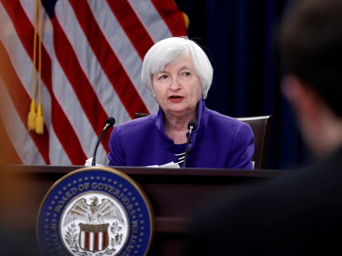 Outgoing Federal Reserve Chair Janet Yellen holds a news conference after a two-day Federal Open Market Committee (FOMC) meeting in Washington. Photo: Reuters / Jonathan Ernst