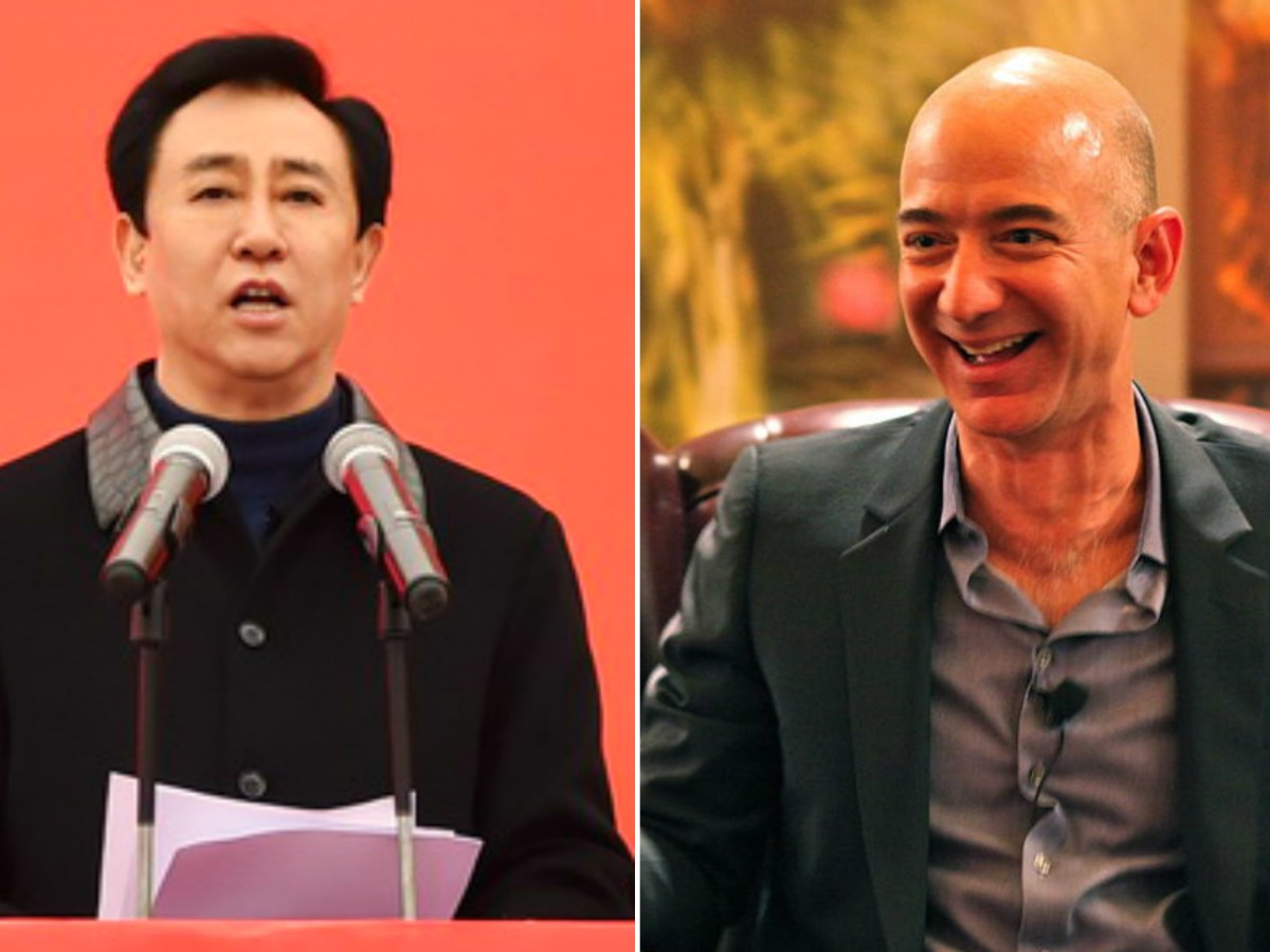 Hui Ka Yan, left, and Jeff  Bezos saw a huge jump in their fortunes this year. Photo: Evergrande, Wikimedia Commons, Flickr