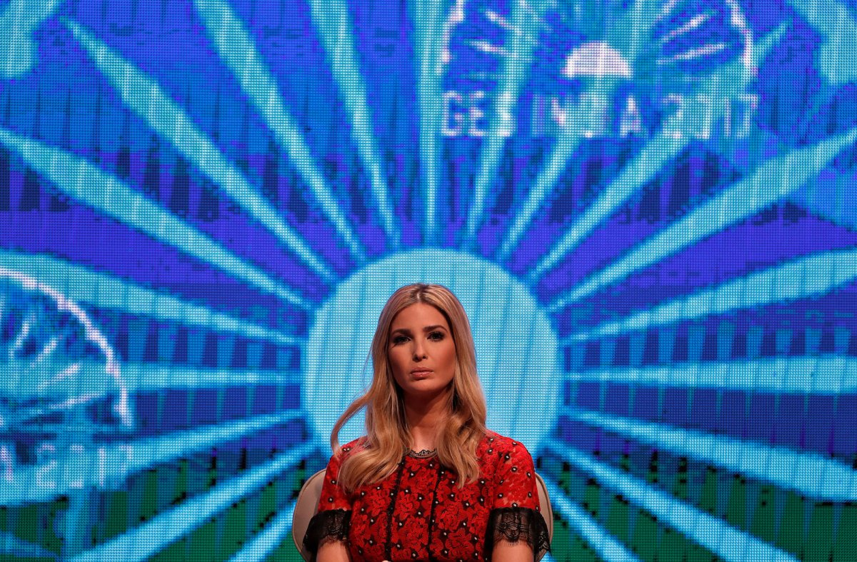 Ivanka Trump, daughter of US President Donald Trump, appears at the Global Entrepreneurship Summit in Hyderabad, India, on November 29, 2017. Photo: Reuters / Cathal McNaughton
