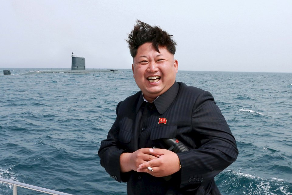 This KCNA image purports to show Kim Jong-un attending a sub launch in 2016. Photo: KCNA