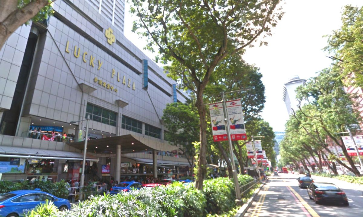 Lucky Plaza on Orchard Road in Singapore. Photo: Google Maps