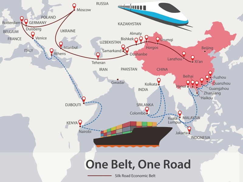 One Belt, One Road, Chinese strategic investment. Illustration: iPhoto