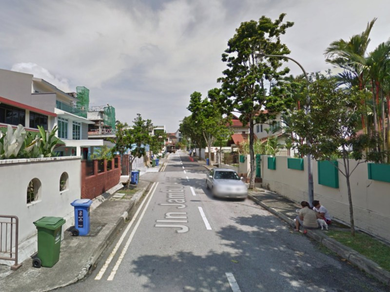 Jalan Jambu Ayer in Bukit Timah, Singapore. Photo: Google Maps