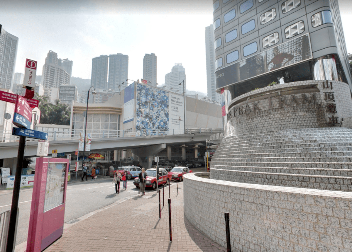 Cabbies tend to overcharge tourists who hail taxis at the Garden Road Peak Tram Station. Photo: Google Maps