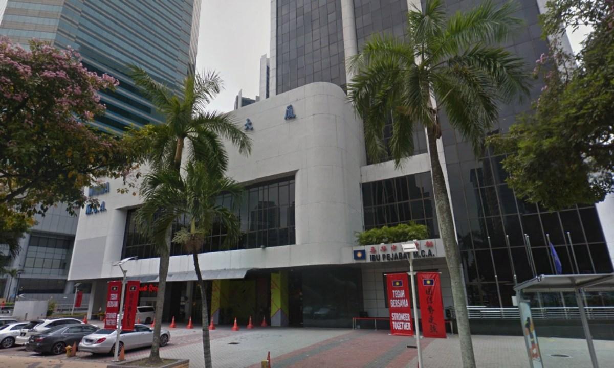 Wisma MCA in Kuala Lumpur, Malaysia. Photo: Google Maps