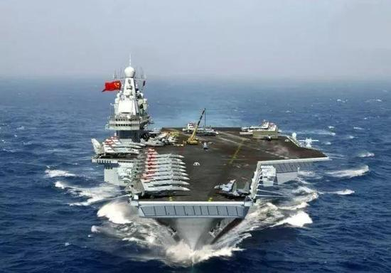 An artist's impression of the Type 003 carrier created by Chinese military fans. The next generation carriers have flat flight deck. Photo: Handout