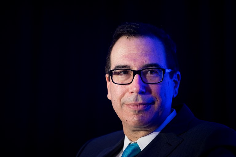 US Secretary of the Treasury Steven Mnuchin. Photo: Reuters/Brendan Smialowski