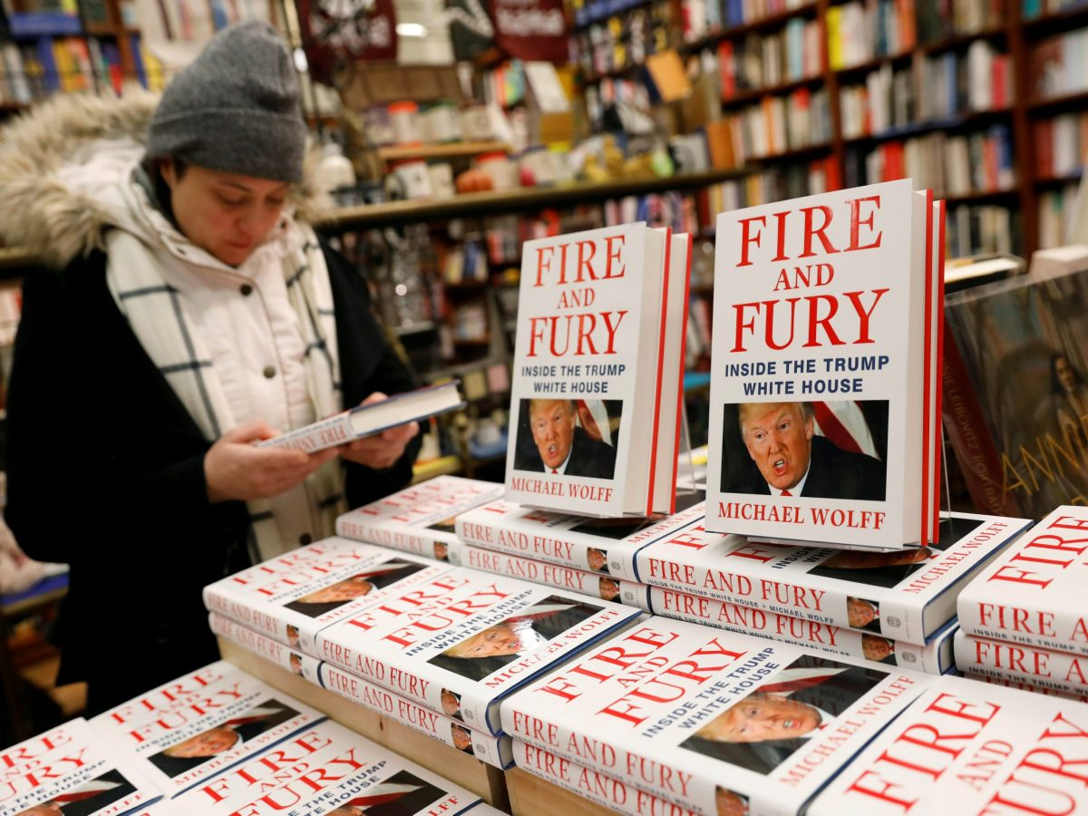 Copies 'Fire and Fury: Inside the Trump White House' are seen at at a book store in New York, January 5, 2018. Photo: Reuters / Shannon Stapleton