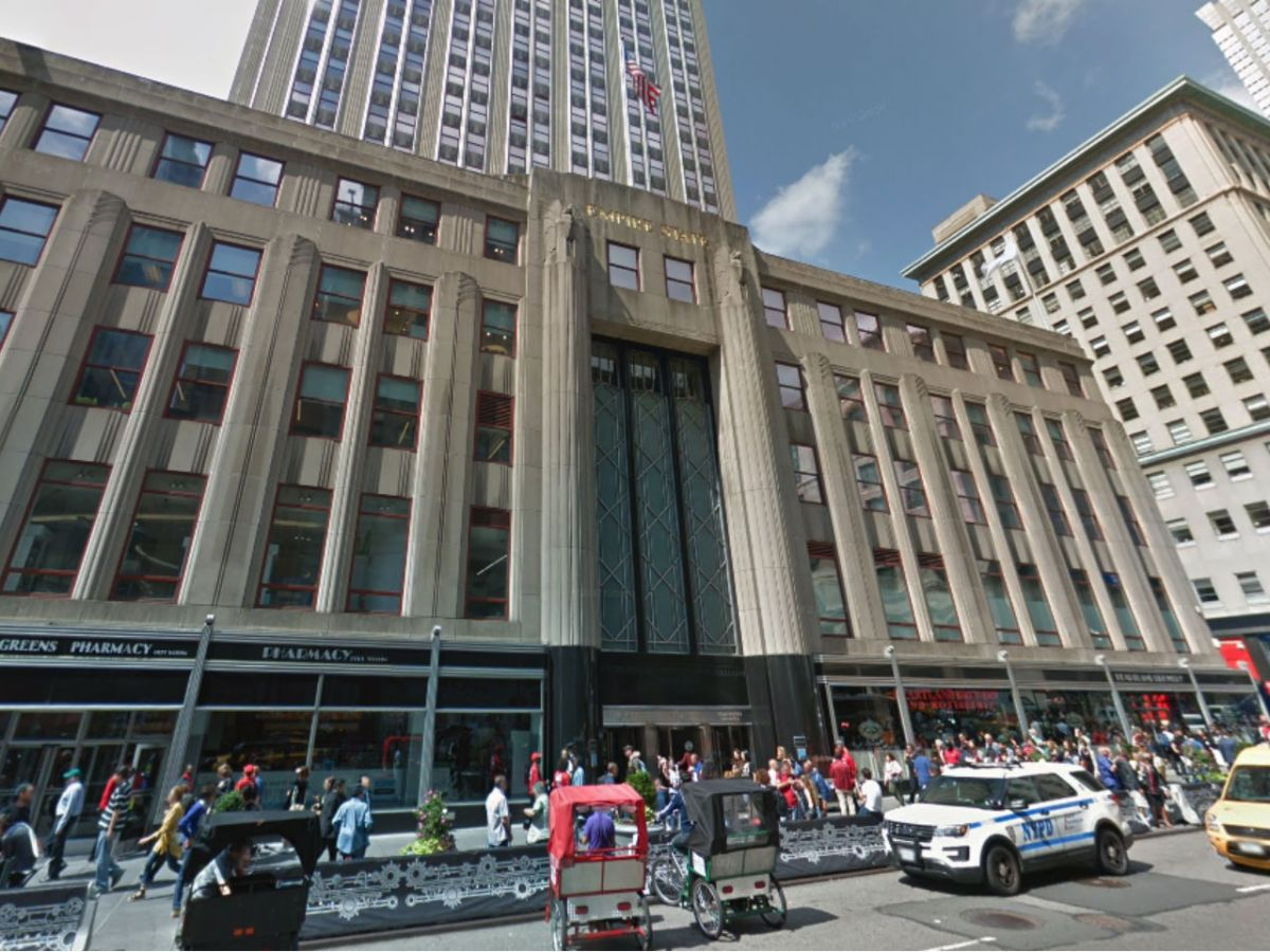 Human Rights Watch headquarters in the Empire State Building in New York. Photo: Google Maps