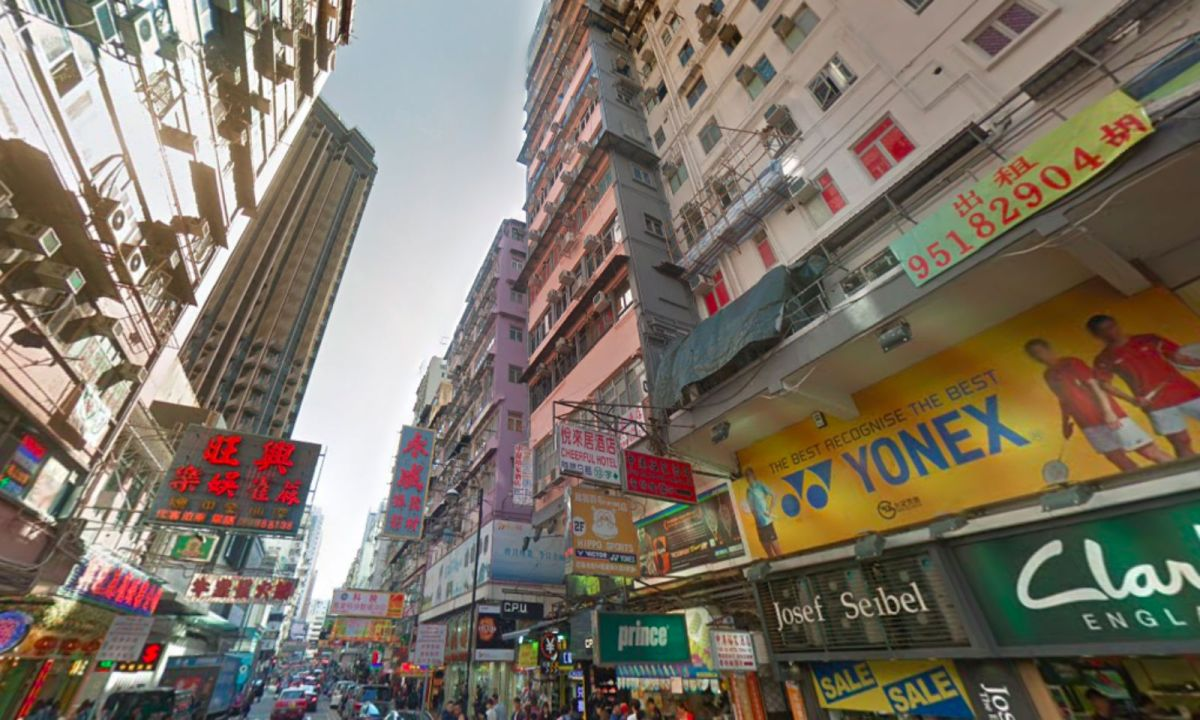 Fa Yuen Street in Mong Kok, Kowloon. Photo: Google Maps
