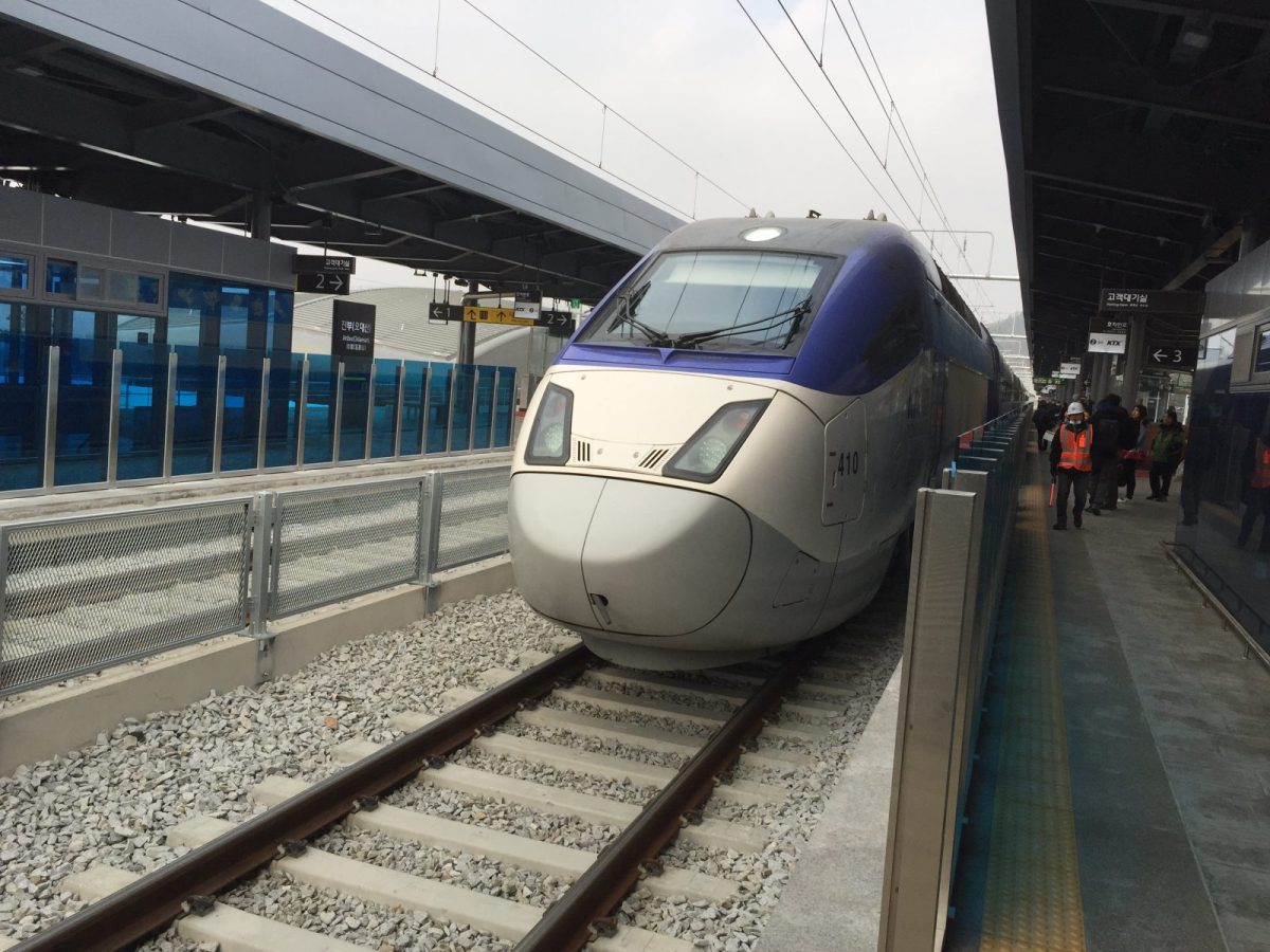 The new KTX bullet train, coming online just ahead of the Winter Olympics, slashes hours off cross-peninsula travel times. Photo: Andrew Salmon