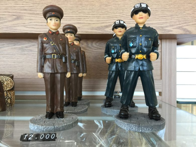Toy soldiers from north and south at the DMZ museum gift shop. The real things are not far away. Photo: Andrew Salmon