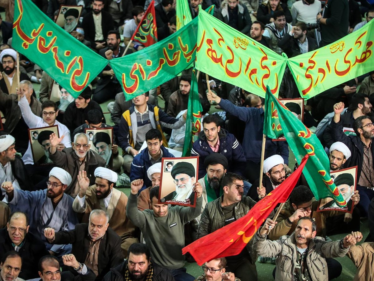 Iranians march in support of the government near the Imam Khomeini grand mosque in the capital Tehran on December 30, 2017. Photo: AFP via Tasnim News