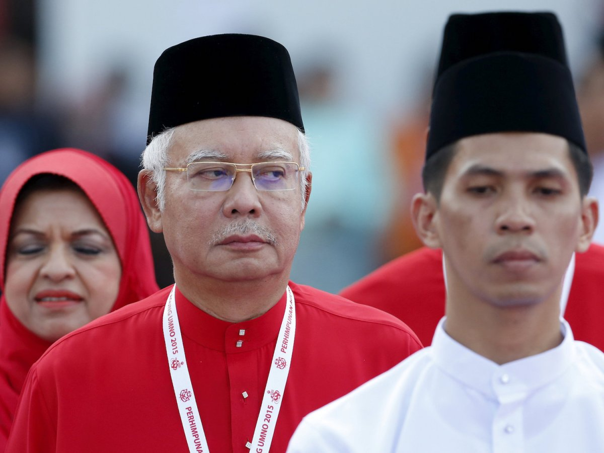 Malaysia's Prime Minister Najib Razak at his ruling United Malays National Organization (UMNO) annual assembly at the Putra World Trade Centre in Kuala Lumpur, Malaysia, in a December 10, 2015. Photo: Reuters/Olivia Harris