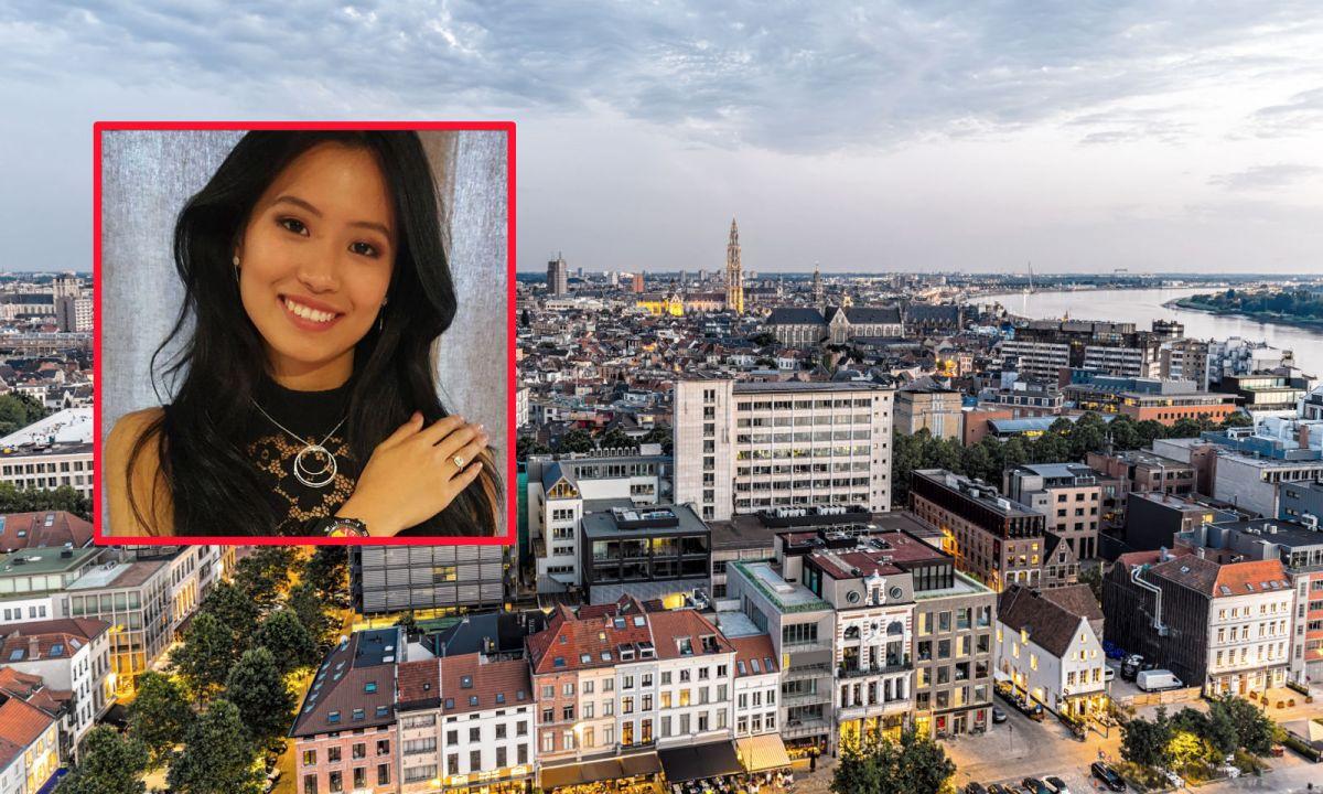 Angeline Flor Pua (inset) was born in Antwerp, Belgium. Photos: iStock, Instagram, Miss Belgium