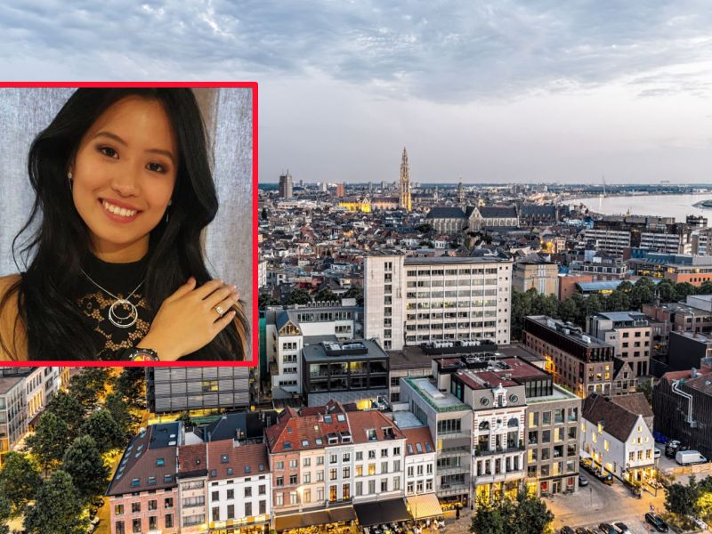 Angeline Flor Pua (inset) was born in Antwerp, Belgium. Photos: iStock, Instagram, Miss Belgium