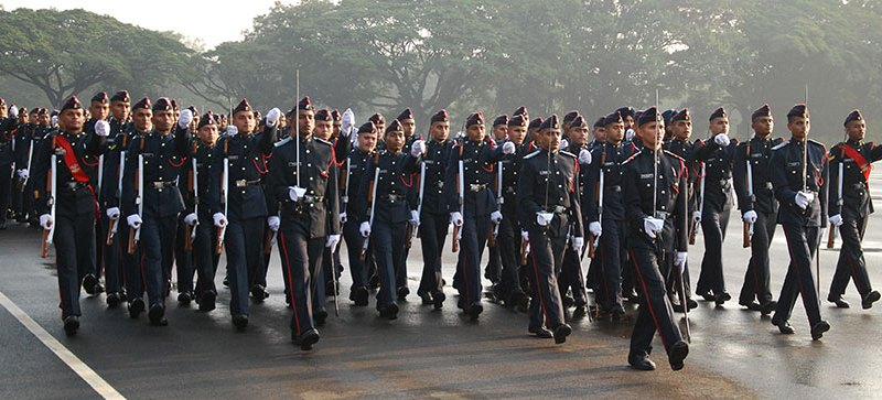 NDA cadets conducting drills. Photo: Courtesy NDA