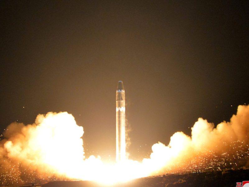 北韩在过去六个月內已经测试了一系列洲际弹道导弹。相片:路透社/ KCNA