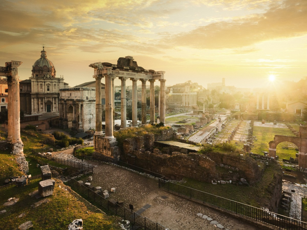 In search of answers, the writer looked back in time and set off to the Forum in a walking conversation with the ruins of Rome. Photo: iStock