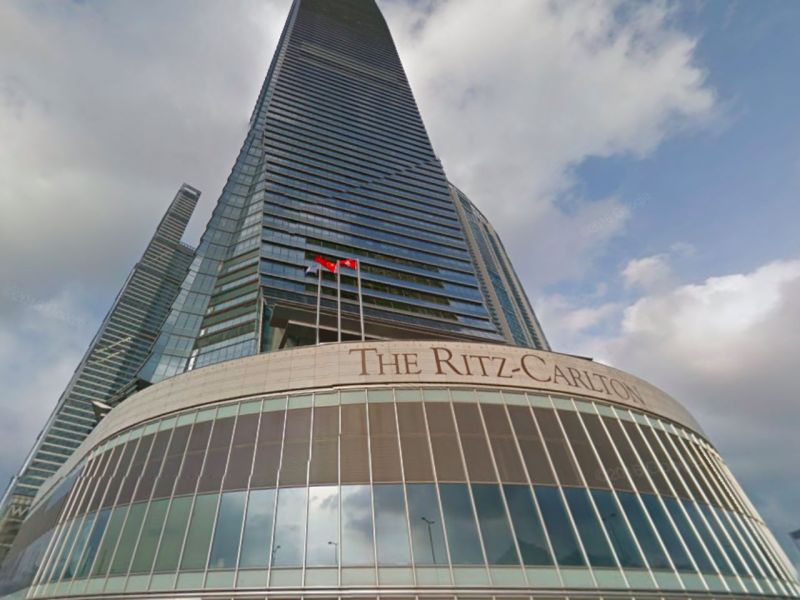 The Ritz-Carlton Hong Kong, Kowloon West. Photo: Google Maps