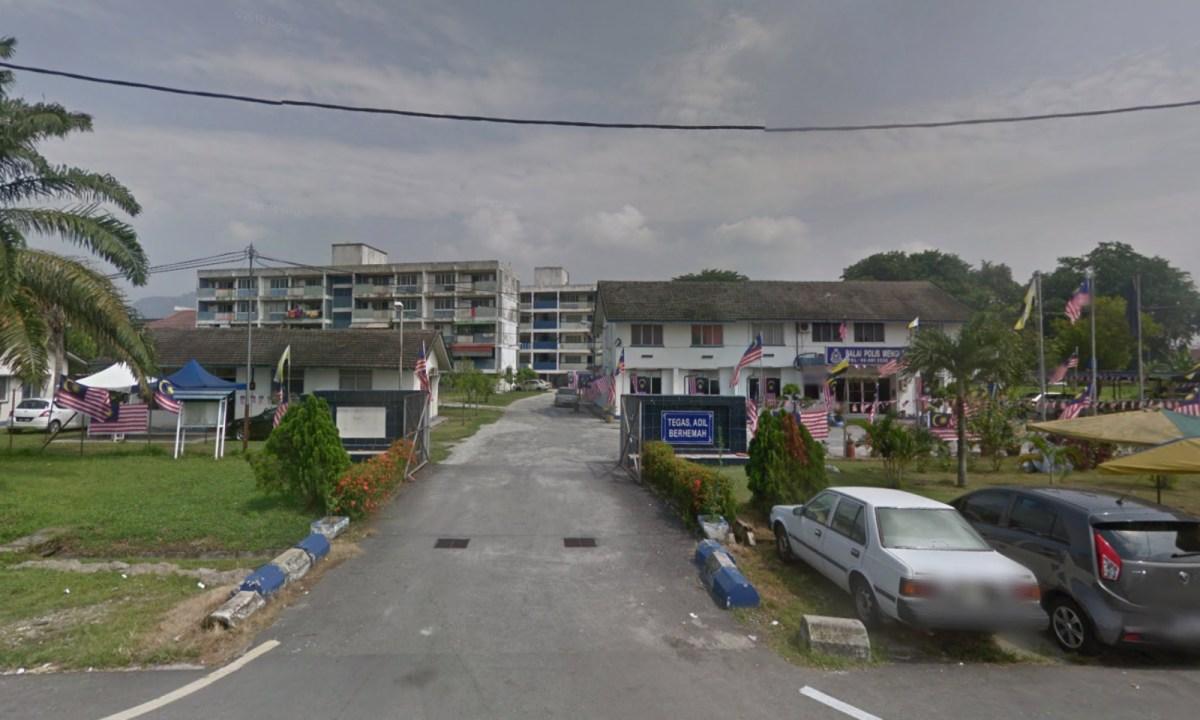 Police station at Menglembu, Perak, Malaysia. Photo: Google Maps