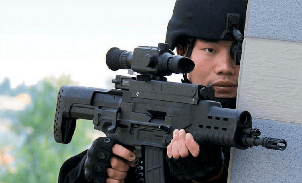 A PLA infantryman with a QTS-11 rifle. Photo: PLA Daily