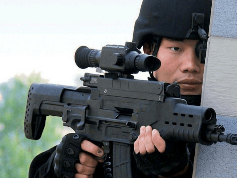 A PLA infantryman with a QTS-11 rifle. Photo: PLA Daily