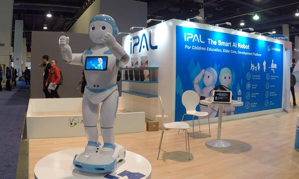 Busy working parents could consider giving their children iPal the humanoid robot as a playmate as well as teacher. Photo: Asia Times