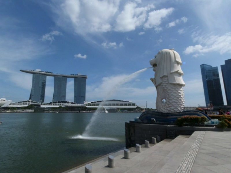 The Merlion in Singapore. Photo: Google Maps