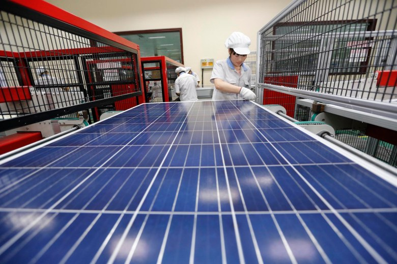 China's Solar Panel industry has been hit by US trade tariffs. Photo: AFP