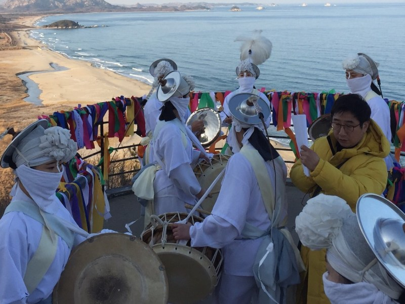 Dancers at a 'peace festival' overlooking the DMZ. Photo: Andrew Salmon