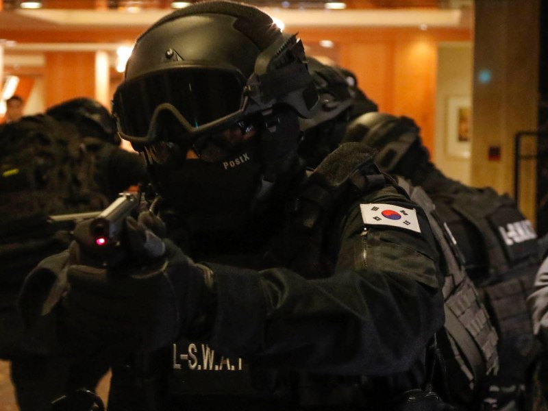 Members of Special Weapons and Tactics team (SWAT) take part in an anti-terror drill in a 2016 file photo. Photo: NurPhoto via AFP Forum/Seung-il Ryu