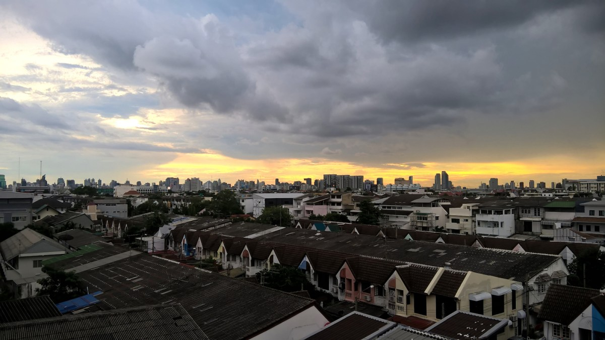 Clouds gather over a Bangkok housing estate. Photo: iStock/Getty Images.