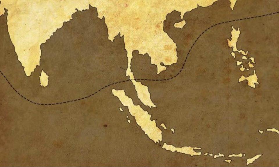 从地图可见,透过开辟克拉地峡可打造新的东西方运输航程。相片:Wikimedia Commons