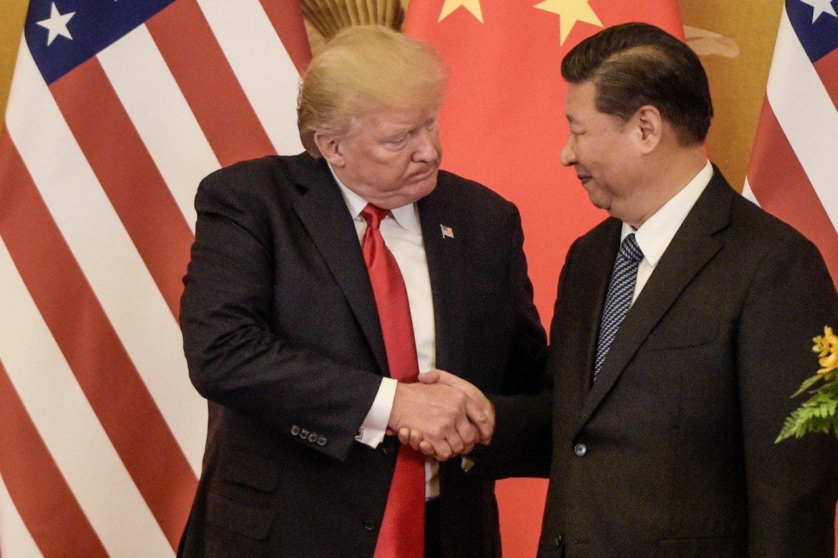 US President Donald Trump and Chinese President Xi Jinping in Beijing in 2016. Photo: AFP